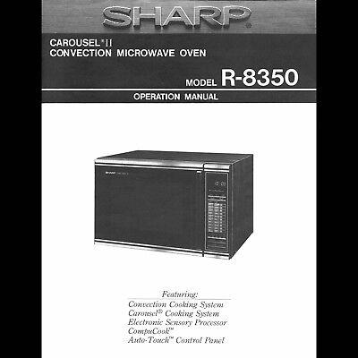 VINTAGE 1987 SHARP CAROUSEL II CONVECTION MICROWAVE R-8350 DIGITAL (Manual Microwave)