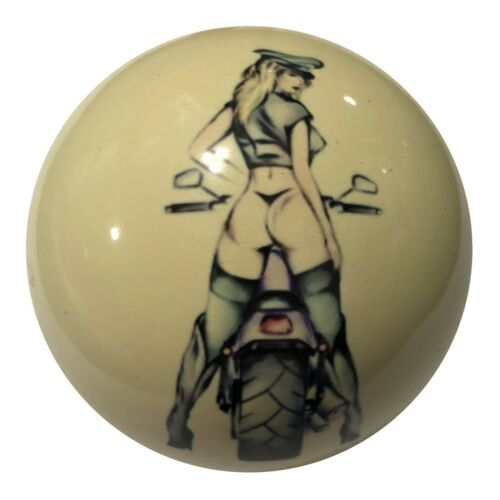 Pool/Billiards Custom Cue Ball Police Girl Pin-Up Unique & Great Gift!