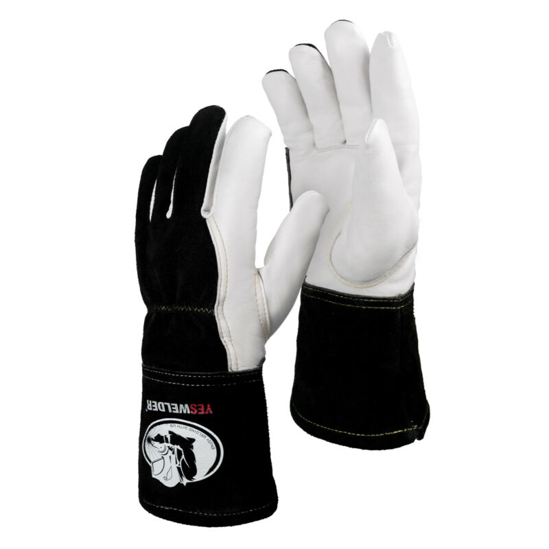 Premium Goatskin TIG Welding Gloves,Top Grain Leather,High Dexterity,True-M-L-XL