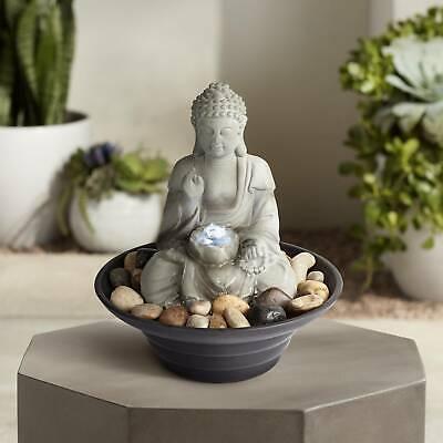 Sitting Buddha LED Tabletop Zen Fountain ORIGINAL John Timbe