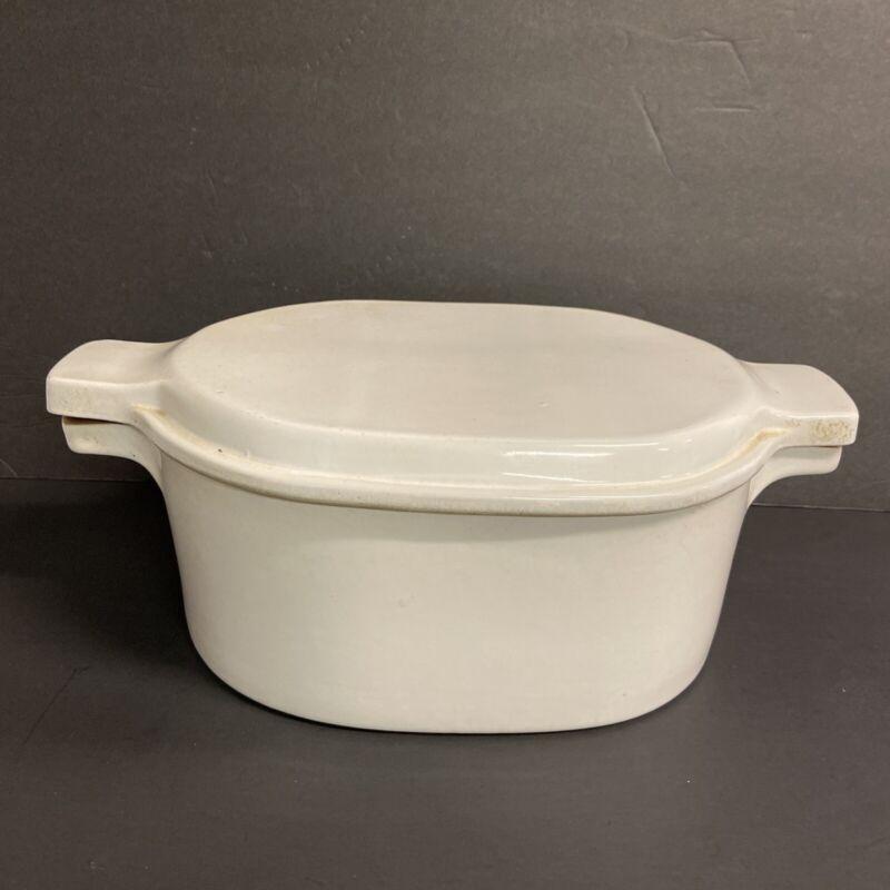 Bennington Pottery - Vintage David Gill Roaster Dutch Oven Casserole # 1856