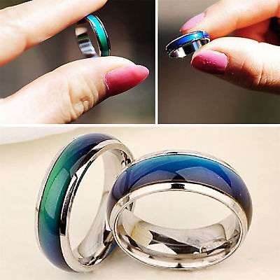 Color Changing Mood Rings Temperature Emotion Feeling Rings Women Men Jewelry Us