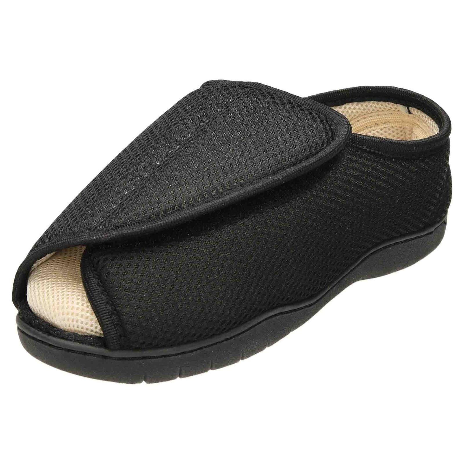 Unisex Extra Wide Fit Open Toe Slippers Shoe Breathable E/5E  Mens Ladies