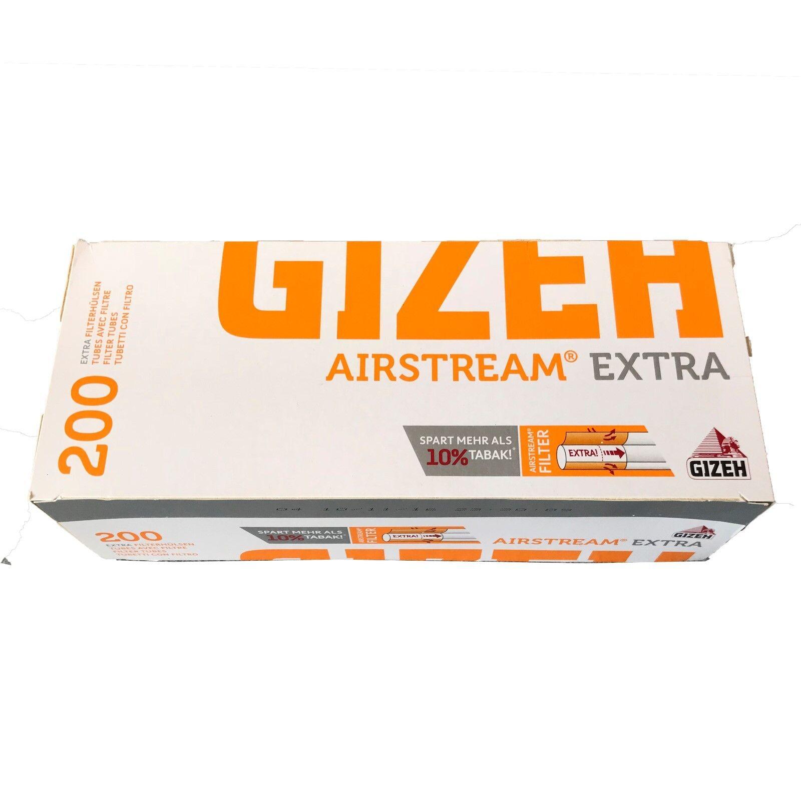 15 Pack Gizeh Airstream Extra Filterhülsen (200 Stück pro Pack)