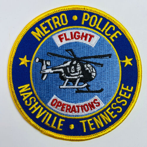 Flight Operations Aviation Metro Police Nashville Tennessee TN Patch (A2)