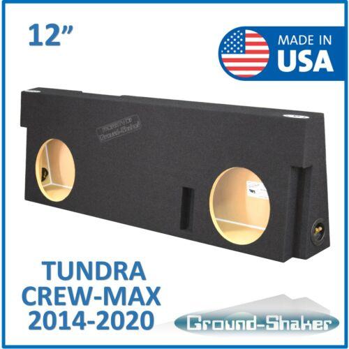 "Fits Toyota Tundra Crew-Max 2014-2020 12"" Dual Sub Box Subwoofer Enclosure"