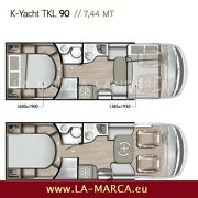 Mobilvetta K Yacht Tekno LINE 90 Face to Face Queensbett