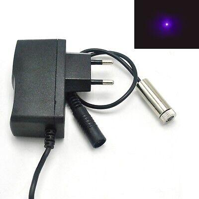 405nm 50mw Focusable Dot Violetblue Laser Diode Module 5v Adapter Led Light