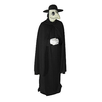 Scary Doctor Halloween (Dr Peste Plague Doctor Costume Robe Mask Hat Halloween Steampunk Party)