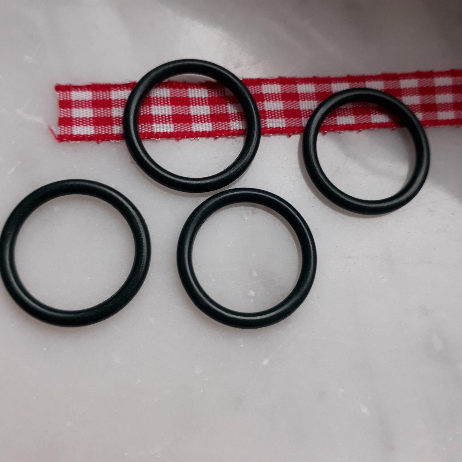 4 Kunststoffringe transparent oder bunt für Wäsche, Top- oder BH-Träger, Basteln