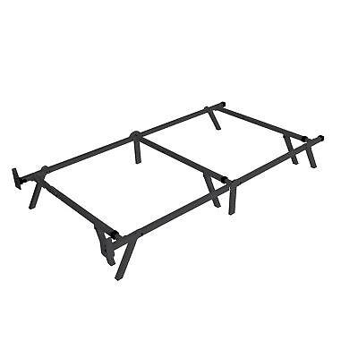 intelliBASE Low Profile Adjustable Box Spring Metal Bed Fram