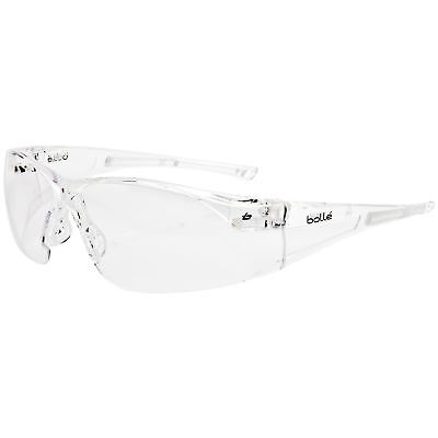 Bolle Rush Safety Glasses With Clear Anti-fog Lens Clear Temples
