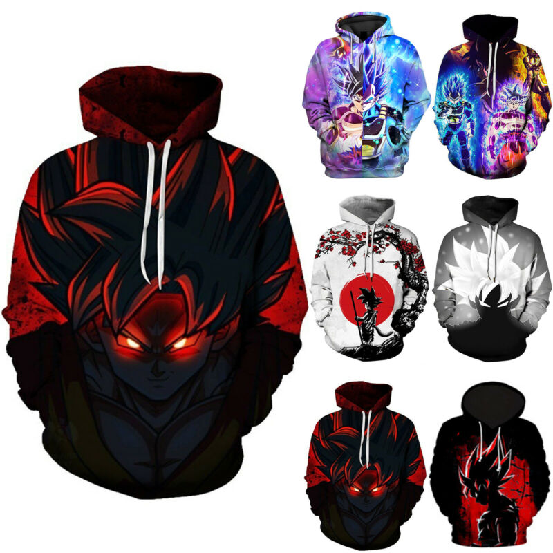 Dragon Ball Z 3D Graphic Print Mens Hoodies Sweatshirt Jacke