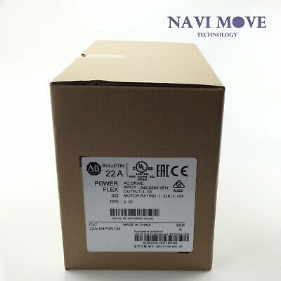 New Sealed Allen Bradley 22a-d4p0n104 Powerflex 4 Catalog 22ad4p0n104 Ser A