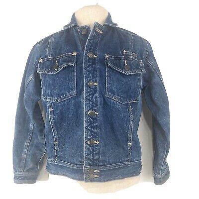 Vintage Coca Cola Coke Denim Jean Trucker Jacket Size Women's Medium S Blue