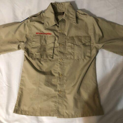 Official BSA Boy Scout tan uniform shirt  Y Medium no patches new style
