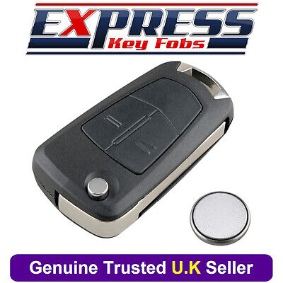 For Vauxhall Opel Zafira B Vectra C 2 Button Remote Car Key Fob Case + Battery