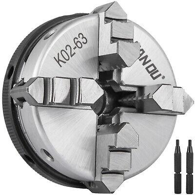 Lathe Chuck 4 Jaw K02-63 2.5 63mm M14 Reversable Self Centering Jaws