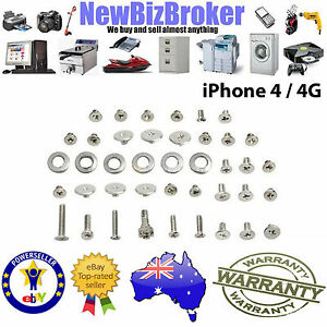 iPhone 4  - FULL SCREW SET inc Bottom Pentalobe Screws - Original Genuine New