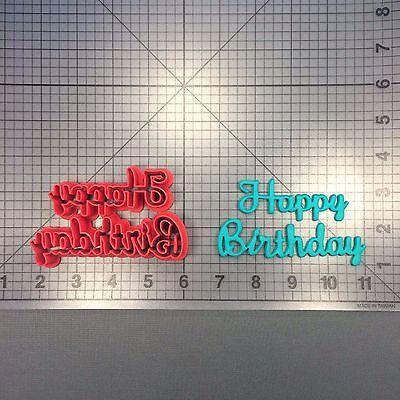 Happy Birthday Cursive 266-B524 Cookie Cutter Happy Birthday Cookies