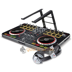 New Numark Mixtrack Pro 2 DJ Controller With Audio I/O & Laptop Stand Pro II