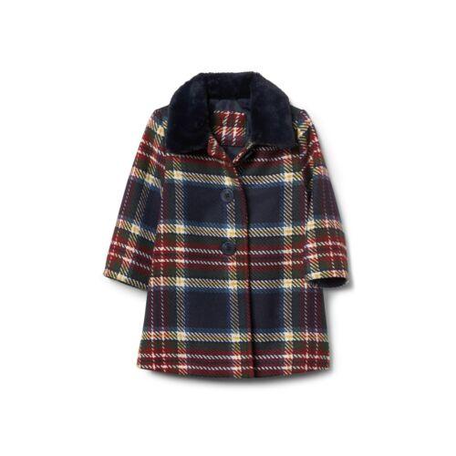 Baby Gap Girls Long Sleeve Red Plaid Coat Jacket NWT