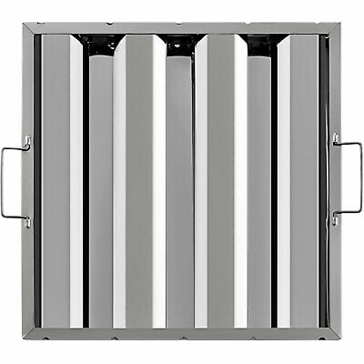 16x16 6 Pack Exhaust Hood Grease Filter Baffle Vent 3 Grooves 430 Stainless