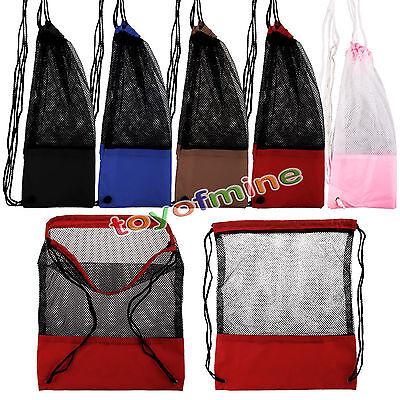 Enmesh Bag Drawstring Backpack GYM PE SWIM School Sport Dance Shoes Beach Backpack