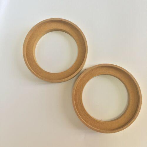 """2 Pcs 3"""" 3Inch MDF Speaker Ring Speaker Mounting Spacer Rings W/ Bezel 18mm H"""