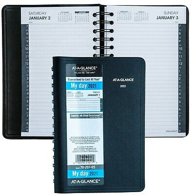 2021 At-a-glance 70-207 Daily Appointment Book 4-78 X 8