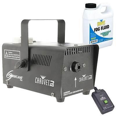 Chauvet H-700 Hurricane 700 Halloween Fog/Smoke Effect Machine + Fluid + Remote