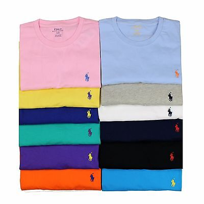 New Polo Ralph Lauren Men Crew Neck T Shirt Classic N Standard Fit Short Sleeve