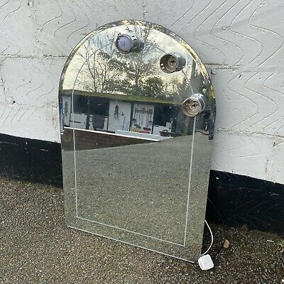 Vintage Retro Hollywood Arched Mirror With Light Bulbs Dressing Room 85 x 60cm