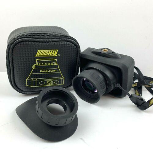 "Hoodman Compact HoodLoupe Optical Viewfinder for 3.2"" LCD Screens & Eyecup"
