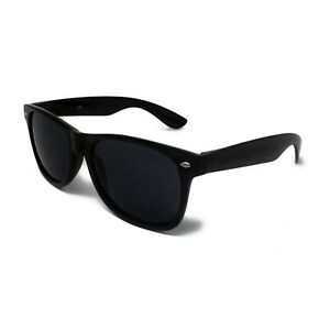 9b1c368f8e87 Classic BLACK Sunglasses Lens Mens Ladies 80s Womens Retro Vintage Fashion  UV400