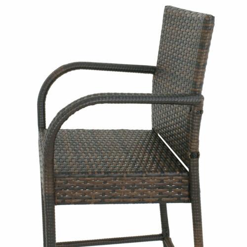 8 Pack Indooor Outdoor Backyard Patio Wicker Barstool Patio Bar Stools Brown Benches, Stools & Bar Stools