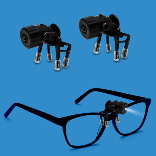 Bright Basics 2 Pack Universal Clip-On LED Flexible Glasses Light Reading Safety