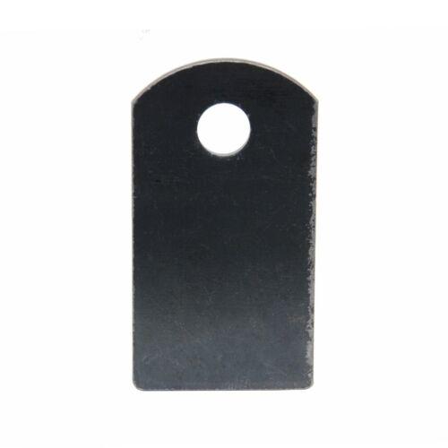 "2 3/4"" x 1 1/2"" x 1/8"" | Weld On Steel Flat Tab Brackets | Set of 12"