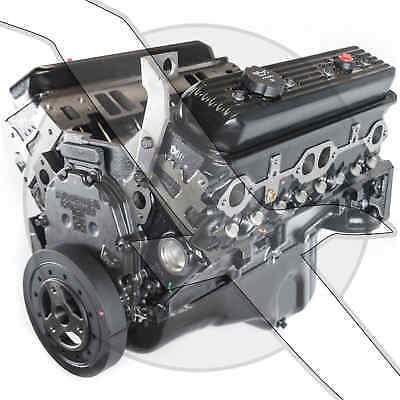 Replaces Mercruiser years 1987-95 New 5.7L 350 V8 Pre-Vortec GM Marine Engine