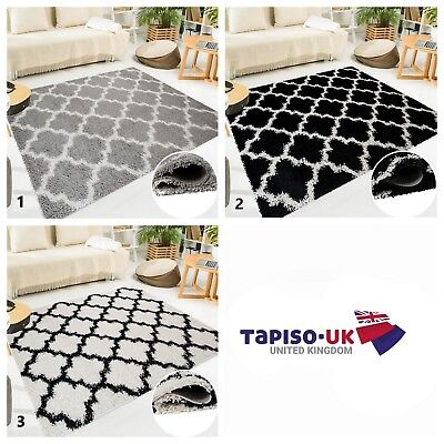 High Trellis (Shaggy Rug Non-Shed High Quality Trellis Pattern 5cm Pile Height Modern Carpet)