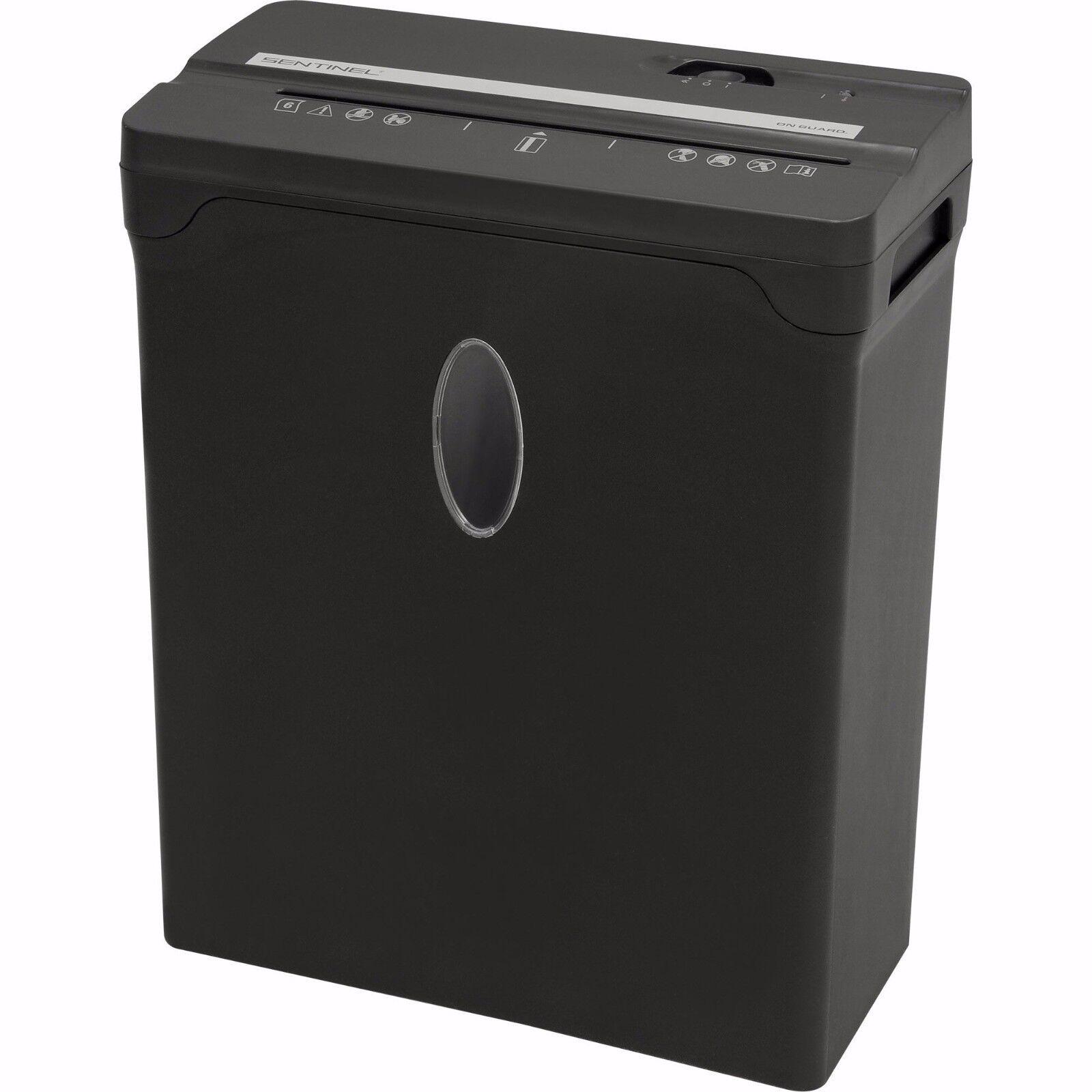 Купить Sentinel FX61B - Sentinel Compact 6 Sheet Cross-Cut Shredder Paper | Credit Cards | Black - NEW!