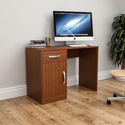 Hudson Computer (Hudson Computer Desk 1 Drawer 1 Door Laptop PC Table Home Office Study Walnut)