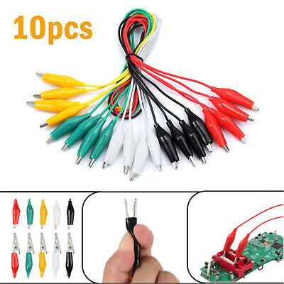 10 Electric Alligator Clip Test Leads Double-ended Crocodile Clip Jumper Cable