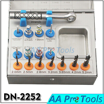 Drills Kit Dental Implant Basic Tools Ratchet Hex Drivers Parallel Pins Dn-2252