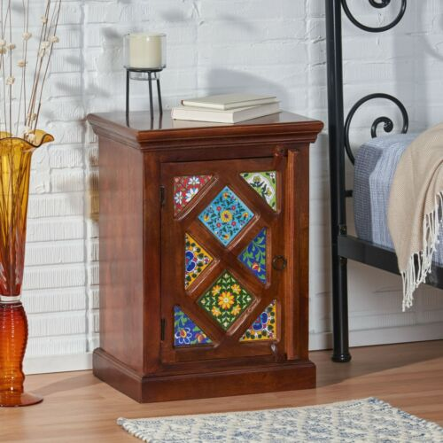 Picabo Handcrafted Boho Mango Wood Nightstand Furniture
