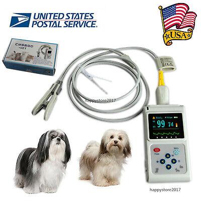 Usa Cms60d Vet Veterinary Pulse Oximeter Spo2 Pr Monitor Ear Lobe Sensor