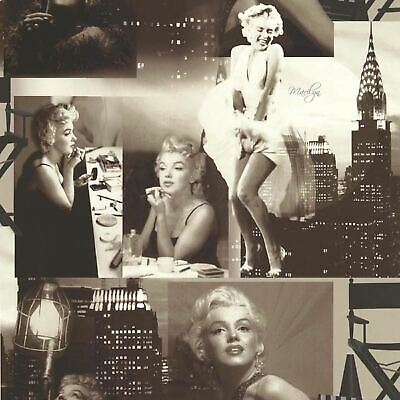 Marilyn Monroe Wallpaper Black White Photos Collage New York City Holden Decor