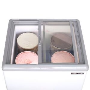 Ice cream dipping cabinet -4 flavours- Commercial grade