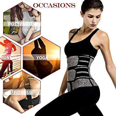 Women Neoprene Belt Waist Trainer Shapewear Gym Yoga Fintness Body Shaper Slim