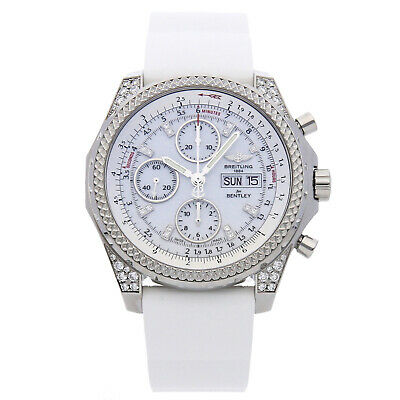 Breitling Bentley GT Steel Auto Diamond Dial Strap Deployant Watch A1336267/A729